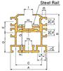 DOUBLE PLUS® Aluminum Guide Rail -- C2040VRP-R4LS -Image