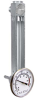 304 Stainless Steel Liquid Level Gage with Dial Thermometer -- YB4252 Series