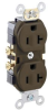 Duplex, Standard Brown 20A 125V AC 2P -- 07847781542-1 - Image