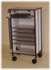 Standing Height Projector cart with Power Strip -- SOH-1E