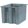 """17"""" x 14 1/2"""" x 12 7/8"""" Gray - Stack & Nest Containers -- BINS118 -- View Larger Image"""
