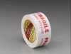 3M Scotch 3772 Red / White Printed Box Sealing Tape - Pattern/Text = FRAGILE, HANDLE WITH CARE - 48 mm Width x 100 m Length - 2.2 mil Thick - 72304 -- 021200-72304