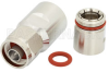 N Male Low PIM Connector Clamp/Non-Solder Contact Attachment for PE-1/2FAC, 1/2 inch Flexible, 1/2 inch Annular, IP67 Rated -- PE44735 -Image