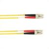 1-m, LC-LC, 50-Micron, Multimode, Plenum, Yellow Fiber Optic Cable -- FOCMP50-001M-LCLC-YL - Image