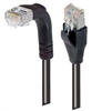 Shielded Category 6 Right Angle Patch Cable, Straight/Right Angle Down, Black, 7.0 ft -- TRD695SRA1BLK-7 -Image