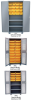 PLASTIC BIN 14 ga. WELDED CABINET WITH SHELVES -- HHY236
