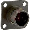 connector,metal circular,box mounting receptacle,size 8,2 #20 solder pin contact -- 70010898
