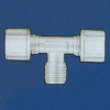 Jaco - Kynar, Nylon, And Polypropylene Tube And Hose Tube-To-Tube-To-MPT Tee Fitting -- 61056