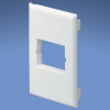 Surface Raceway : Surface Mount Boxes, Faceplates, & Receptacles : Faceplates : Use with Panduit Mini-Com Inserts -- T70B1IW
