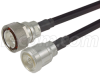 7/16 DIN Male to 7/16 DIN Female 400 Series Assembly 10 ft -- CA-DMDFF010 - Image