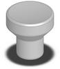 SS Mushroom Knob - Female Thread - 8-32 -- 06240-0AD - Image
