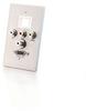 Single Gang HD15 + 3.5mm + RCA A/V + Keystone Wall Plate - Brushed Aluminum -- 2225-40541-ADT