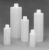 BOTTLES - Narrow Mouth, Round, Cylinder Shape, High-Density Polyethylene, with Screw Caps Attached, LabBest, 8, 24-410 -- 1142429