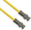 TRB Plug 3-Slot Male to TRB Plug 3-Slot Male 50 Ohm Triaxial cabling Yellow jacket Cable Assembly -- CA-3017-36 -Image