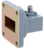 WR-102 to SMA Female Waveguide to Coax Adapter UG-1493/U Square Cover with 7 GHz to 10 GHz in Aluminum, Paint -- FMWCA1037 - Image