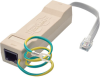 DataShield In-Line Surge Protector for Network and Phone Lines, 2-Line RJ11/RJ45 -- DTEL2