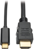 USB C to HDMI Adapter Cable (M/M), Thunderbolt™ 3 Compatible, 3840 x 2160 (4K x 2K) @ 30 Hz, 3 ft. -- U444-003-H