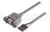 USB Type B Adapter, Female Bulkhead/Female Header 3M -- UPMB5-3M