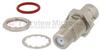 75 Ohm BNC Female (Jack) to F Female (Jack) Bulkhead Adapter, Nickle Plated Brass Body -- FMAD1041 - Image