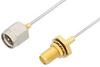 SMA Male to SMA Female Bulkhead Cable 6 Inch Length Using PE-SR047AL Coax -- PE3382-6 -Image