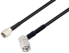 SMA Male to Reverse Polarity SMA Male Right Angle Cable 48 Inch Length Using RG174 Coax -- PE3W07225-48 -Image