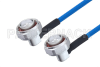 Plenum 7/16 DIN Male Right Angle to 7/16 DIN Male Right Angle Low PIM Cable 36 Inch Length Using SPP-250-LLPL Coax , LF Solder -- PE3C4144-36 -Image
