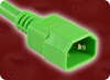 IEC-60320-C14 GREEN to IEC-60320-C13 GREEN HOME • Power Cords • IEC/Jumper Power Cords • Universal -- 3500.060GN -Image