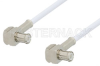 MCX Plug Right Angle to MCX Plug Right Angle Cable 24 Inch Length Using RG196 Coax, RoHS -- PE3301LF-24 -Image