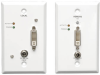 DVI over Cat5/Cat6 Active Extender Kit, Wallplate Transmitter and Receiver, 1920x1080 at 60Hz, Up to 200-ft., TAA -- B140-1A1-WP