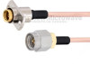 Slide-On BMA Jack 2 Hole Flange to SMA Male Cable RG405 Type .086 Coax in 12 Inch -- FMCA1595-12 -Image