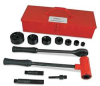 Ratchet Punch Driver Set,1/2-2 In,6 Pc -- 15V955