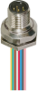 M12 Female 4 Pole 1/2 Npt Mount Aluminum Receptacle -- 301ACN