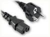 CEE 7/7 EURO SCHUKO to IEC-60320-C15 HOME • Power Cords • International Power Cords • Europe Power Cords -- 8503.098 -Image