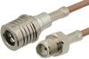 SMA Female to QMA Male Cable 48 Inch Length Using RG316 Coax -- PE38276-48 -Image