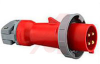 Plug; 30 A; 480 V; Red; Nylon; High-Impact Thermoset; Stainless Steel; 3000 VAC -- 70116113