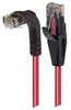 Category 6 LSZH Right Angle Patch Cable, Straight/Right Angle Down, Red, 7.0 ft -- TRD695ZRA1RD-7 -Image