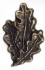Emenee OR278AMS, Knob, Oak Leaf, Antique Matte Silver -- EHOR278AMS