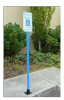 Handicap Parking Sign, Post & Base -- 8PARKINGKIT2