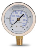 0-100 psi Liquid filled Pressure Gauge with 2.5 inch mechanical dial -- G25-SL100-4LB - Image