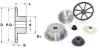 Roller Chain Sprockets With Hub (metric) -- A 6M 7MHZ08013 - Image