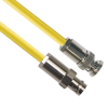 PL75-7 TRB Plug 3-Slot Male to CJ70-7 TRB Jack 3-Lug Female 50 Ohm TRC-50-2 Triaxial cable Yellow jacket 60-inch Triax Cable Assembly -- MP-2606-60 -Image