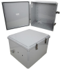 18x16x10 Polycarbonate Weatherproof Outdoor IP66 NEMA 4X Enclosure, Modified Base DKGY -- TEPC181610-02 -Image