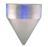 Stainless Steel Seamless Hopper Funnel, 31 Gal., 24