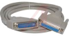 Cable, D-Sub; 6 ft.; 28 AWG; RS232 (DB25); Non Booted; UL Listed -- 70159857