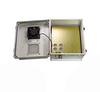 14x12x07 Fiberglass Reinf Polyester FRP Weatherproof Outdoor IP24 NEMA 3R Enclosure, 240 VAC MNT PLT, Mechanical Thermostat Heat & Fan Gray -- TEF141207-2HF -Image