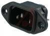 AC RECEPTACLE, POWER INLET, 6.3 MM FASTON -- 70133304