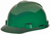 MSA V-Gard® Cap, Green, Slotted, Staz-On® -- 463946 -- View Larger Image