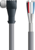 LAPP UNITRONIC® Devicenet™ Thin Single-Ended Cordset - 5 positions female M12 90° to Wire Leads - Continuous Flex - Gray PVC - 10m -- OLFDN4110022F10 -Image