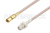 SMA Female to SSMC Plug Cable 12 Inch Length Using RG316 Coax -- PE3C4409-12 -Image