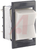 Switch, NON-Illuminated, POWER Rated Rocker, DPDT, (ON)-OFF-(ON), WHITE, SNAP IN -- 70191973 - Image